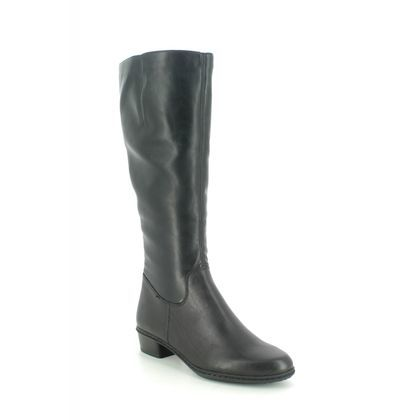 Rieker Knee High Boots - Black leather - Y0796-00 STEFLONG 05
