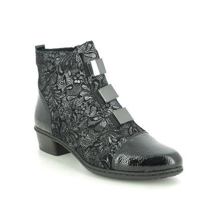 Rieker Boots - Ankle - Black floral - Y07C9-00 STEFPANE