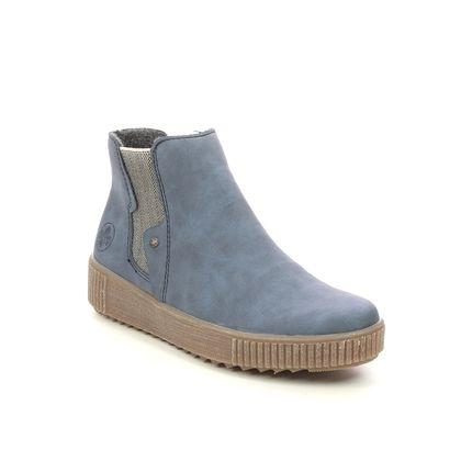 Rieker Chelsea Boots - Blue - Y6461-14 DURLOURDES