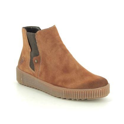 Rieker Chelsea Boots - Tan - Y6461-24 DURLOURDES