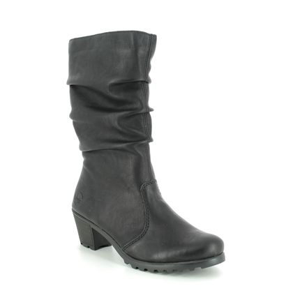 Rieker Knee High Boots - Black - Y8094-01 GREECE MID