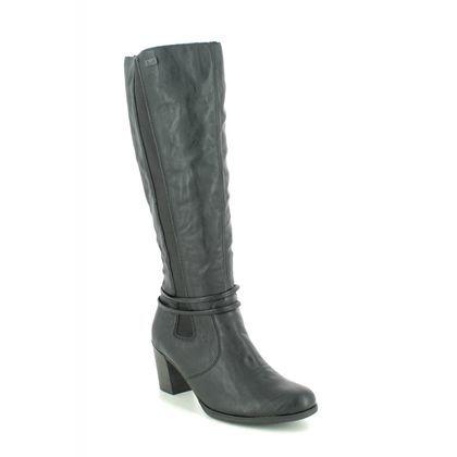 Rieker Knee High Boots - Black - Y8993-00 TOOLON TEX