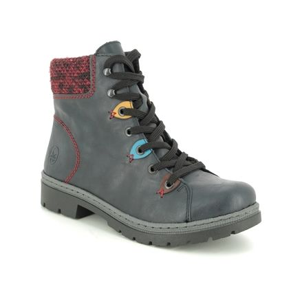 Rieker Boots - Ankle - Navy - Y9433-14 POND