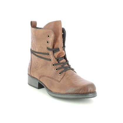 Rieker Lace Up Boots - Tan - Y9710-22 PAMBEER