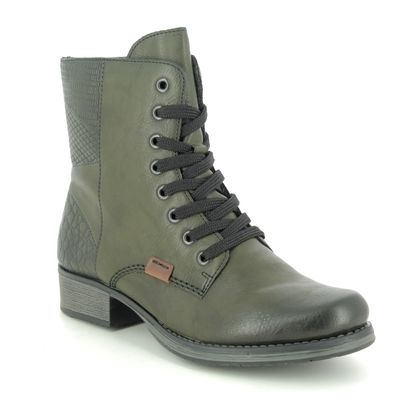 Rieker Lace Up Boots - Green - Y9718-52 PAMBER