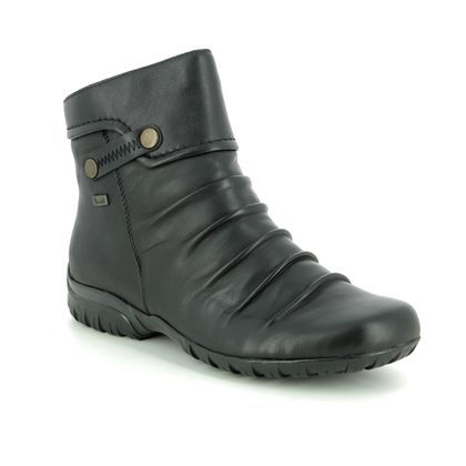 Rieker Boots - Ankle - Black leather - Z4652-00 BIRBOOT TEX WIDE FIT