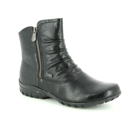 Rieker Boots - Ankle - Black leather - Z4663-01 BIRBOOPA TEX