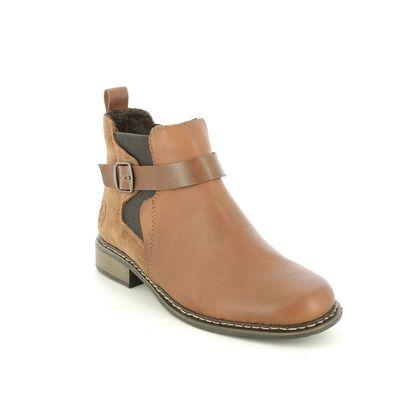 Rieker Chelsea Boots - Tan - Z49A9-24 PEECHY