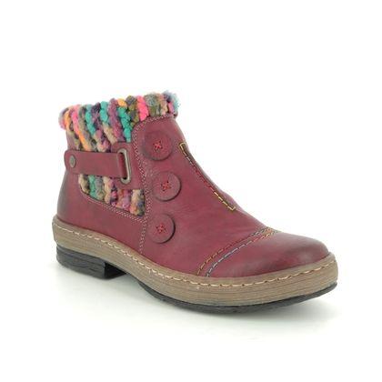 Rieker Boots - Ankle - Wine - Z6759-35 POLARDIS