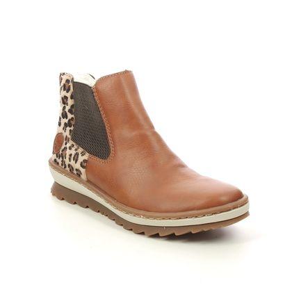 Rieker Chelsea Boots - Tan - Z8689-24 NOVALEP