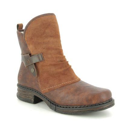 Rieker Boots - Ankle - Tan - Z9973-25 PEEKABOUT