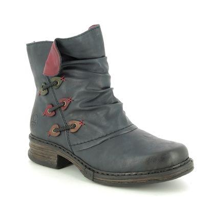 Rieker Boots - Ankle - Navy - Z9981-15 PEEKABOO
