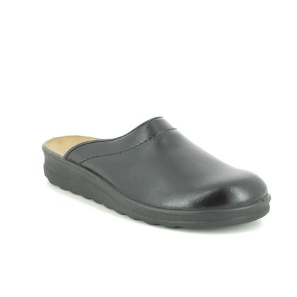 Romika Slippers & Mules - Black leather - 26260/95 100 METZ   VILLAGE
