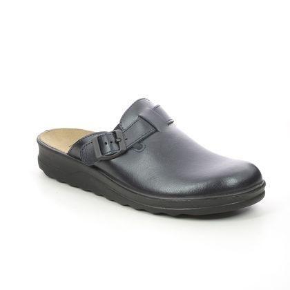 Romika Slippers & Mules - Navy Leather - 26265/95505 METZ   VILLAGE