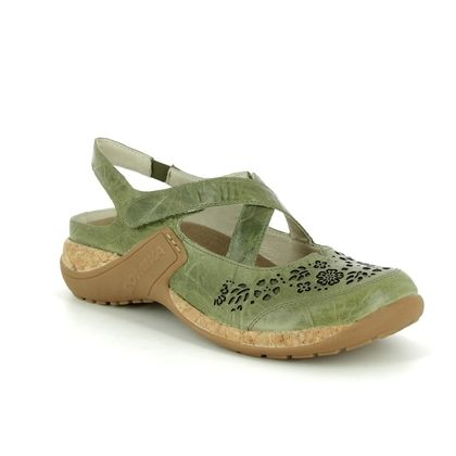 Romika Mary Jane Shoes - Olive Green - 10185/40630 MILLA  125 CROS