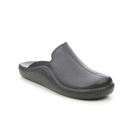 Romika Westland Slippers & Mules - Black leather - 20602/96100 MONACO MOCASSO