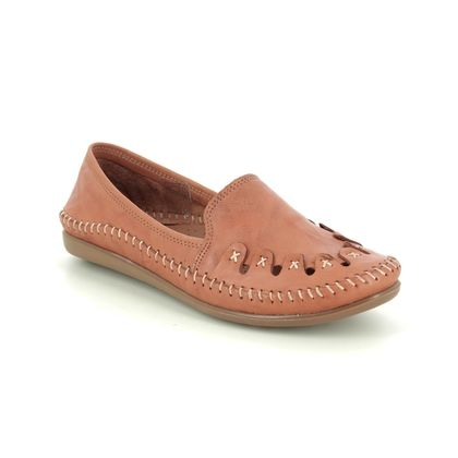 Roselli Comfort Slip On Shoes - Tan Leather  - 2020/18 SOPHIE