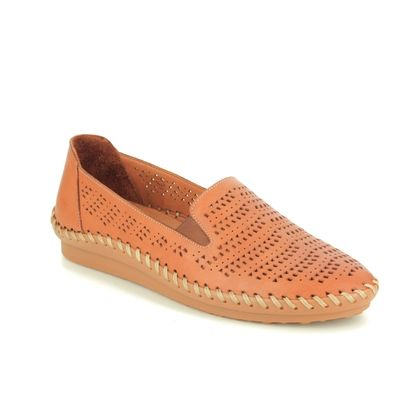 Roselli Comfort Slip On Shoes - Tan Leather  - 2020/23 GEMMA