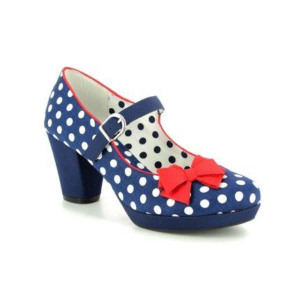Ruby Shoo Heeled Shoes - Navy Spot - 09224/70 CRYSTAL
