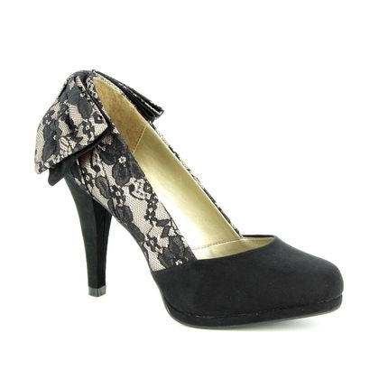 Ruby Shoo Heeled Shoes - Black Lace - 09217/30 KATIE