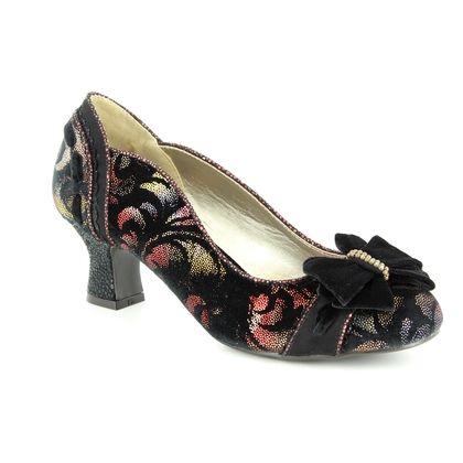 Ruby Shoo Court Shoes - Rust Floral - 09220/30 RHEA