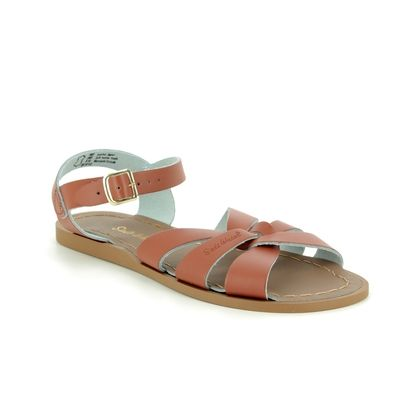 Salt Water Flat Sandals - Tan Leather  - 80011 ORIGINAL