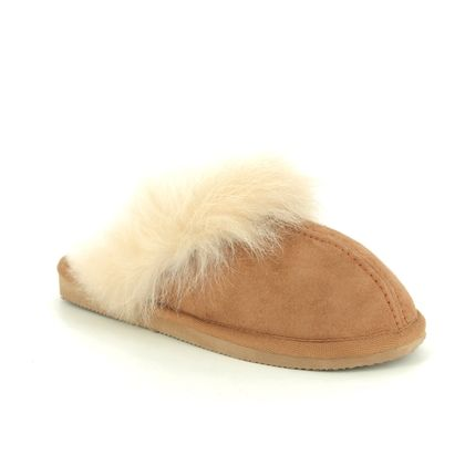 Shepherd of Sweden Slippers & Mules - Tan Leather  - 1929056 EVELINA