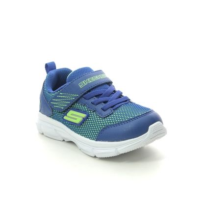 Skechers Boys Trainers - Blue Lime - 95022N ADV INTERGRID