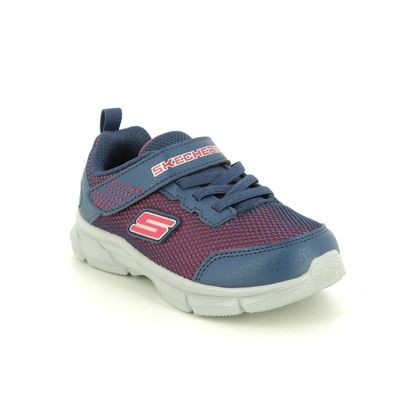 Skechers Boys Trainers - Navy Red - 95022N ADV INTERGRID