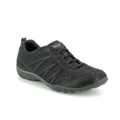 Skechers Comfort Lacing Shoes - Black - 23812 BREATHE EASY RELAXED