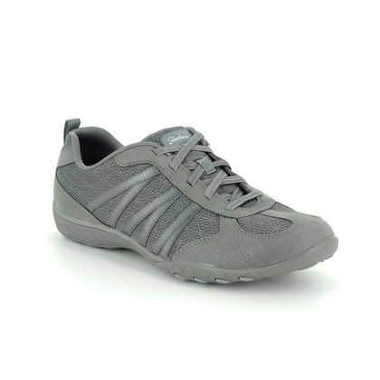 Skechers Comfort Lacing Shoes - Grey - 23812 BREATHE EASY RELAXED
