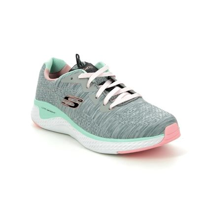 Skechers Girls Trainers - Grey - 302231L BRISK ESCAPE
