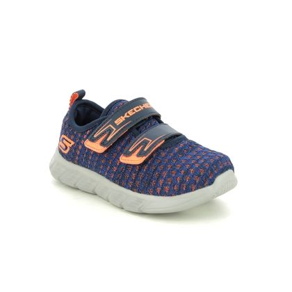 Skechers Boys Trainers - Navy-Blue - 98020N COMFY FLEX VELCRO