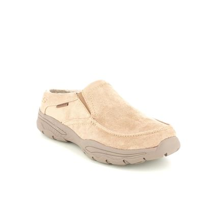 Skechers Slippers & Mules - Tan - 204402 CRESTON MOC RELAXED