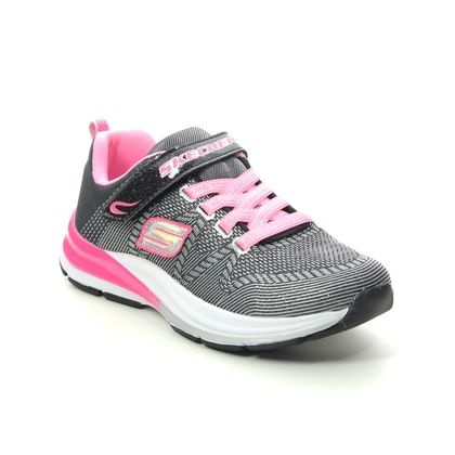 Skechers Girls Trainers - Black - 81459 DOUBLE STRIDES