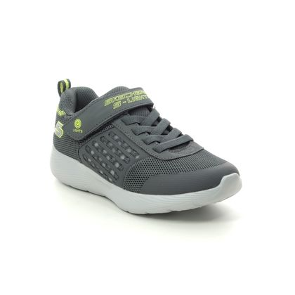 Skechers Boys Trainers - Charcoal Yellow - 90740L DYNA LIGHTS