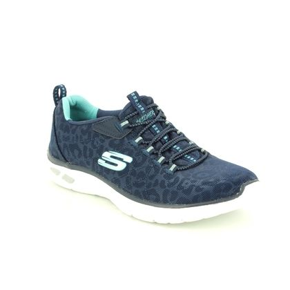 Skechers Trainers - Navy - 12825 EMPIRE DELUX SPOTTED RELAXED