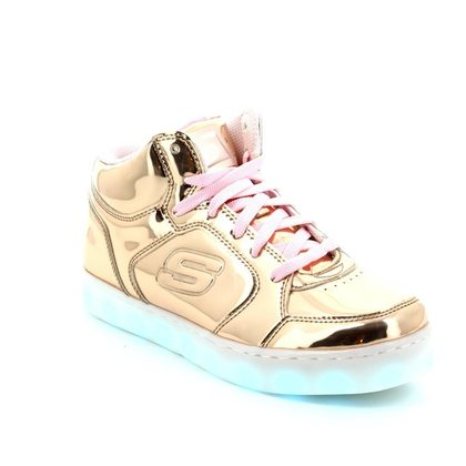 Skechers Girls Trainers - Gold - 10771 ENERGY LIGHTS
