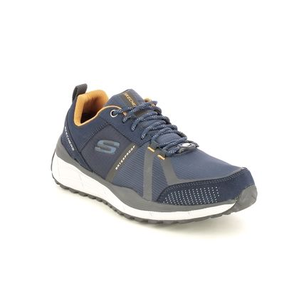 Skechers Trainers - Navy Yellow - 237025 EQUAL TRAIL TEX RELAXED