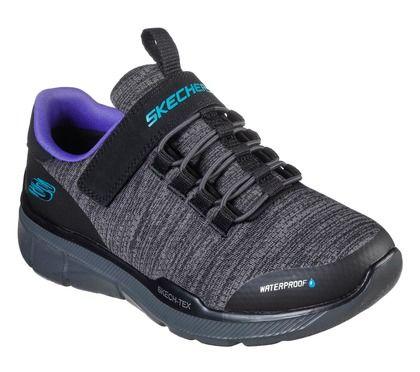 Skechers Girls Trainers - Black grey - 97925L EQUALIZER AQUA