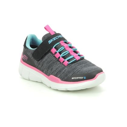 Skechers Girls Trainers - Black Turquoise - 996463L EQUALIZER TEX