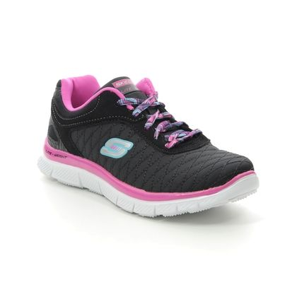 Skechers Girls Trainers - Black hot pink - 81844 EYE CATCHER