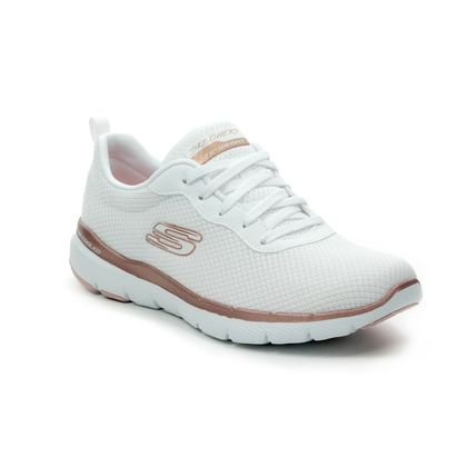 Skechers Trainers - White - rose gold - 13070 FIRST INSIGHT