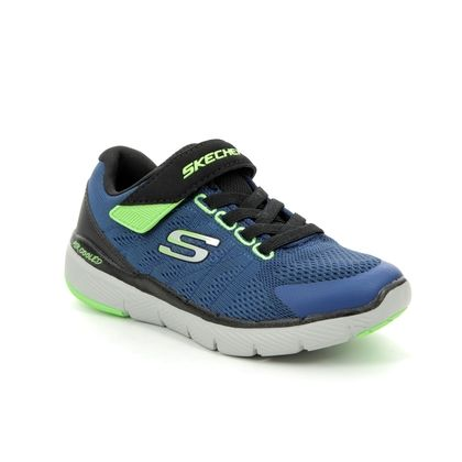 Skechers Boys Trainers - Navy - 98141 FLEX ADVANT JNR