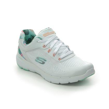 Skechers Trainers - White Mint - 149002 FLEX APPEAL 3.0