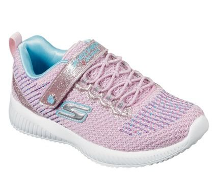 Skechers Girls Trainers - Pink Turquoise - 85681L BOBS SQUAD