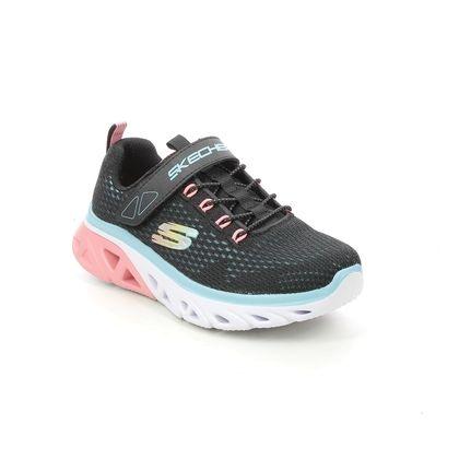 Skechers Girls Trainers - Black - 302472L GLIDE STEP G