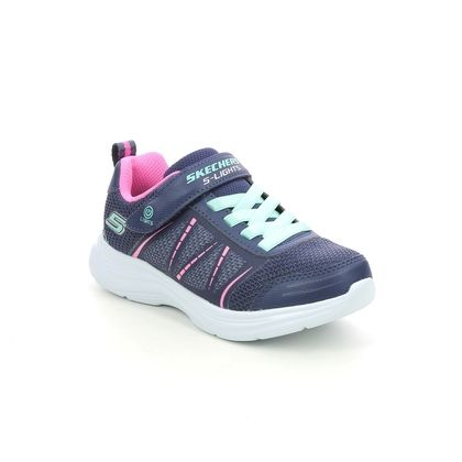 Skechers Girls Trainers - Navy - 302302L GLIMMER KICKS