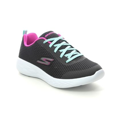 Skechers Girls Trainers - Black - 82006L GO RUN 600 FUN