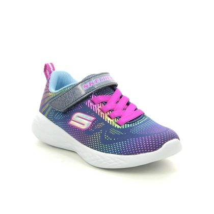 Skechers Girls Trainers - Navy - 302031L GO RUN 600 SHIMMER SPEED